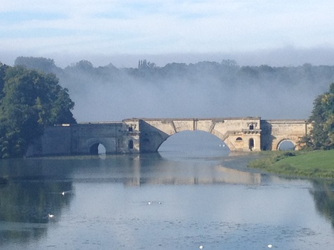 Blenheim Palace morning fog.