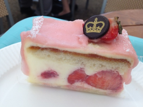 A most delicious Strawberry Frangipane at Buckingham Palace.
