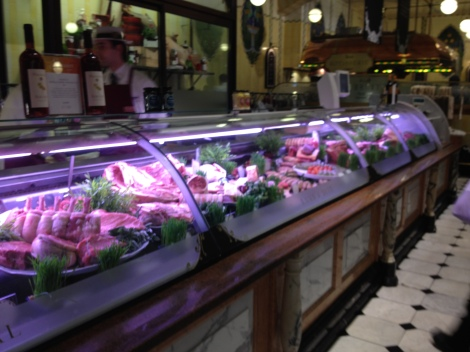 The absolutely stunning meat department at Harrod's, perfectly butchered.