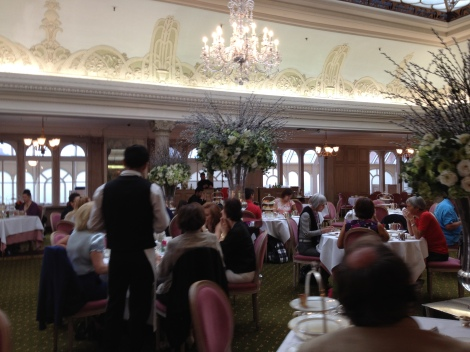 The tea room at Harrod's.
