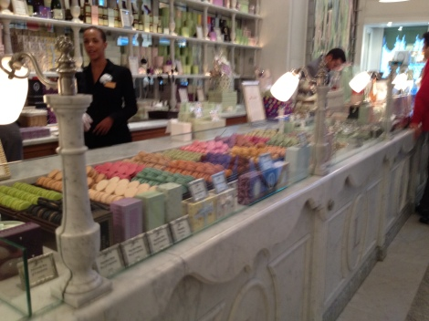 Such an elegant shop at Laduree.
