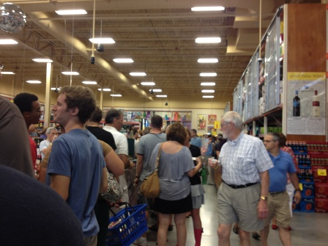 The end of the day crowds at the Wegmans Beer Tasting Event.