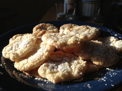 Almond Cloud Cookies made from a recipe courtesy of King Arthur Flour.