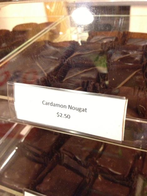 Reucchi's Chocolate Truffles- Cardamon Nougat found at Twig's/