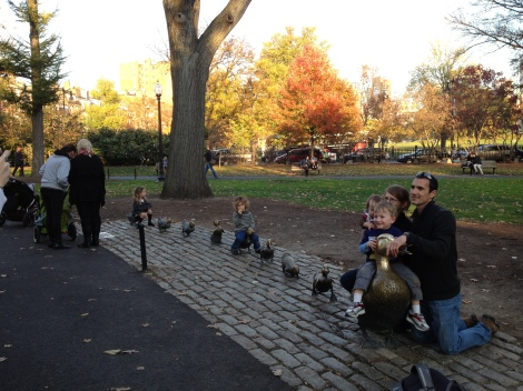 Boston's iconic duck statues which play a part of many memories in Boston for all who visit.