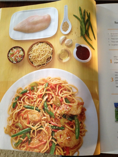 Ingredients being showcased in their splendor for weeknight meals via Wegmans' Menu Magazine, 2013 Spring Edition.