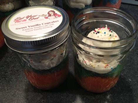 Sweet Rainbow Vanilla Cupcakes