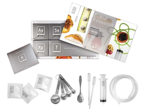 Molecule-R Cuisine R-Evolution Molecular Gastronomy Kit includes handy tools and instructions to make science experiments of your next meal.