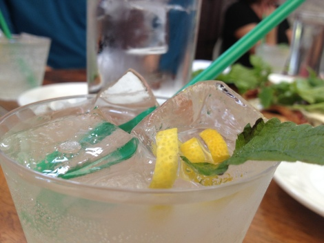A lemon balm spritzer courtesy of Cafe Osage at Bowood Farm.