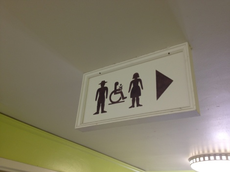 Bowood Farms and their restroom sign, pretty clever!
