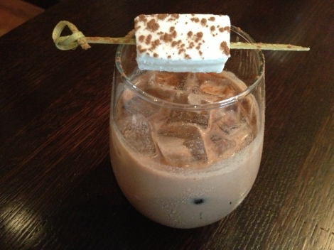 Bissinger's iced chocolate with a hand crafted marshmallow, an exclusive Savor St. Louis Food Tour feature.