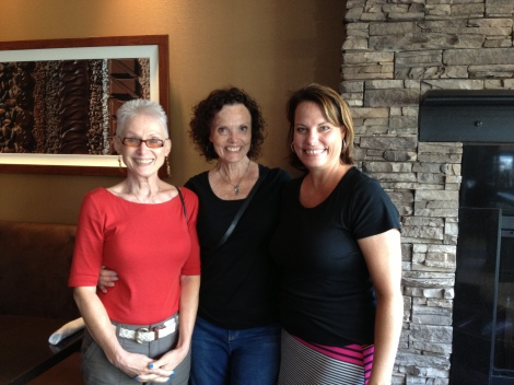 Our lovely tour guides for the day, from left to right, Margaret, Susie and Jennifer.