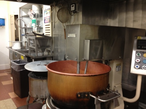 The kitchen where copper still holds a very prominent place.
