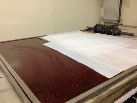 Sheet of raspberry jelly, perfect for a variety of uses.