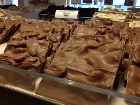 Phillips even has chocolate bark in a wide variety of flavors.
