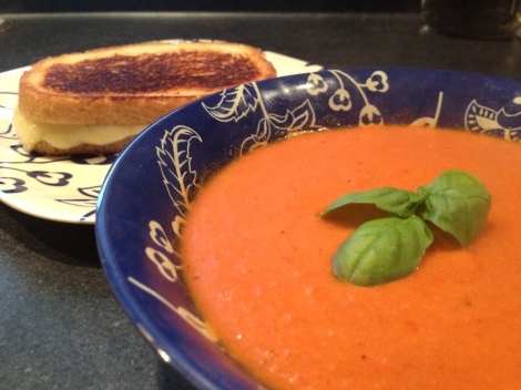 Tomato bisque and grilled cheese anyone?