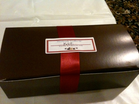 Box of truffles courtesy of Boston Chocolate Tours Truffle Making Workshop.