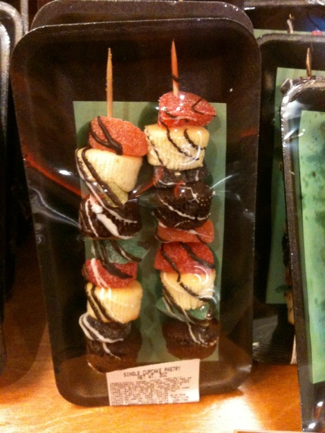 Reason #4 Wegmans Rocks- They have the most creative products. Cupcakes and fruit slice kabobs?