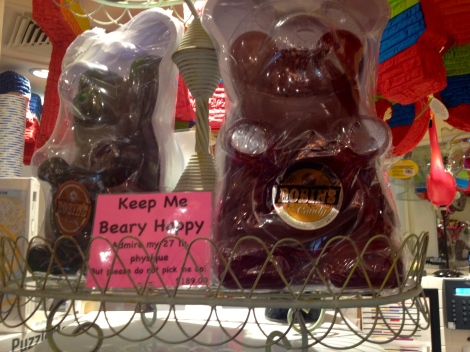 Robin's Candy Shop boasts some of the largest sweets including a 27lb gummy bear.