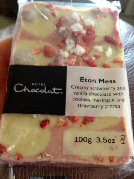 Eton Mess bar of chocolate courtesy of Hotel Chocolat. One of my favorites!