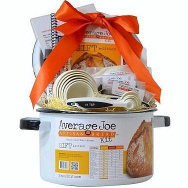 Average Joe Bread Kit comes with everything one could possibly need to make fresh, delicious artesian bread at home.