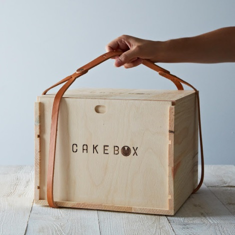 Cake Box from Food 52 gives distinctive flair to your holiday baking and carrying needs.