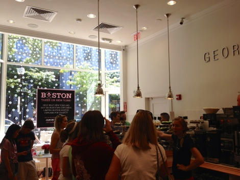 Just another day at Boston's Georgetown Cupcake location.