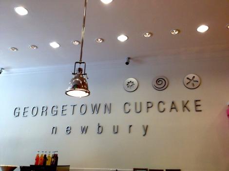 Georgetown Cupcake Newbury Street Boston location.