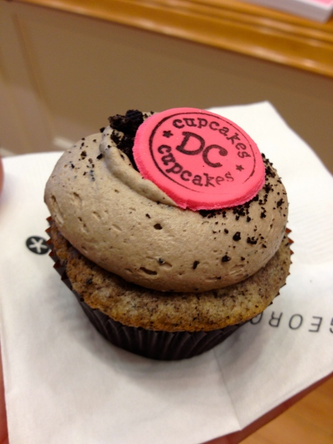 Cupcake flavor of the day- Coffee Cookies and Cream