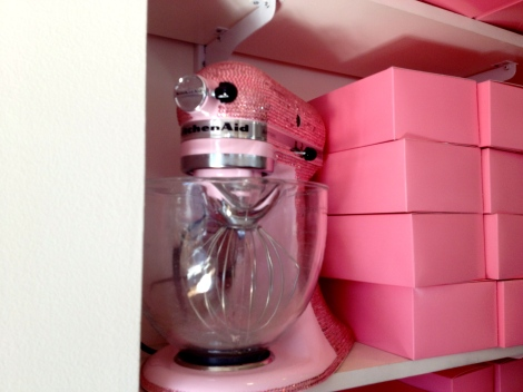 Each location has a beautiful Kitchen Aide mixer, in a variety of colors and always with the Swarovski crystals.