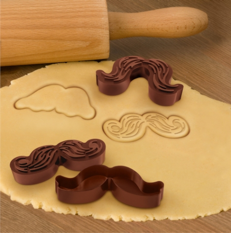 Munchstache cookie cutters from Give Simple are fun ways to enjoy the mustache craze.
