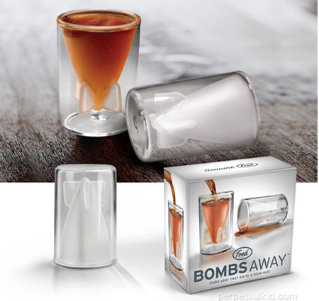 Bombs away shot glass are gift to keep you armed and ready.